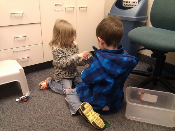 the only five seconds where they both sat there playing nicely instead of literally bouncing off the walls