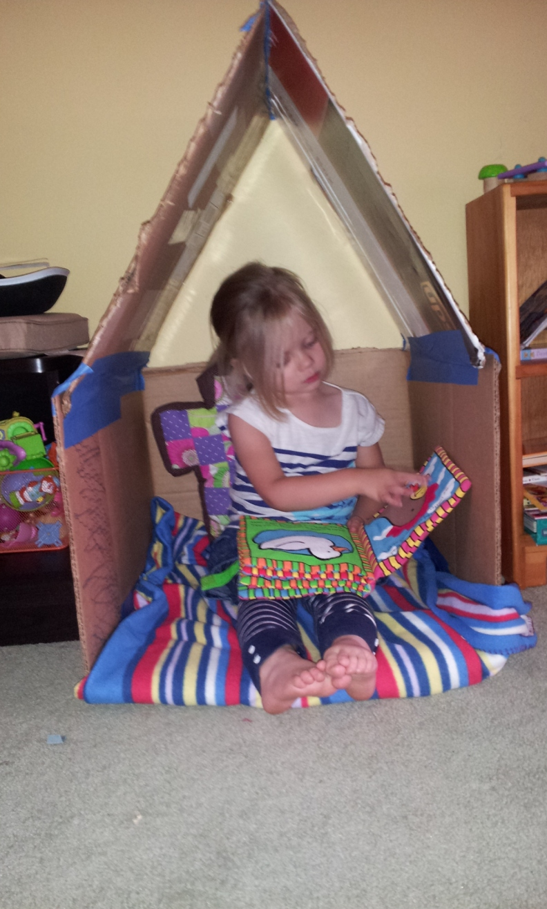 a reading nook for littles