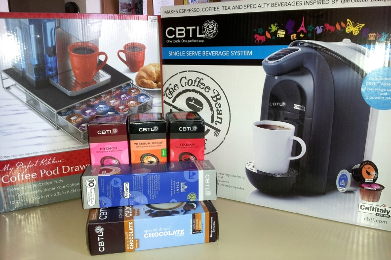 CBTL coffee maker & assorted goodies from Bed Bath & Beyond