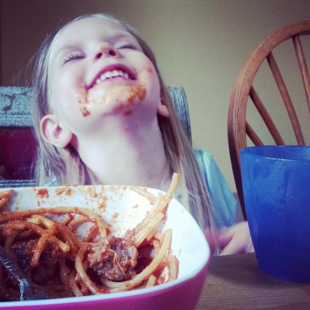 the result of spaghetti night