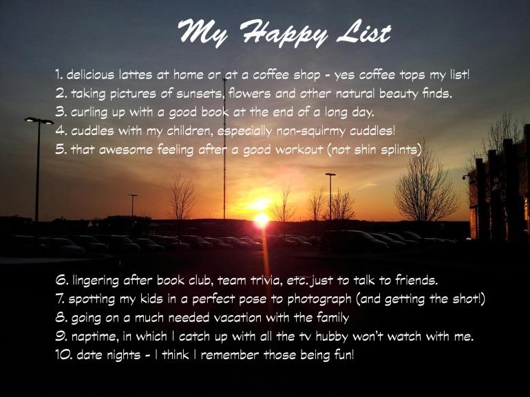 my happy list
