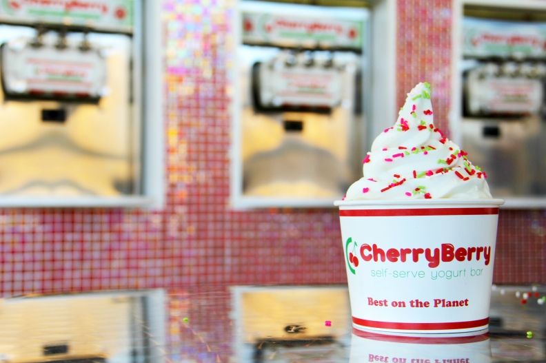 cherry berry yogurt bar