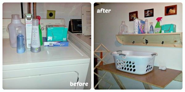 laundry room before and after