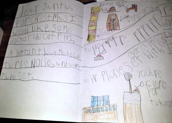 MM's letter to Santa