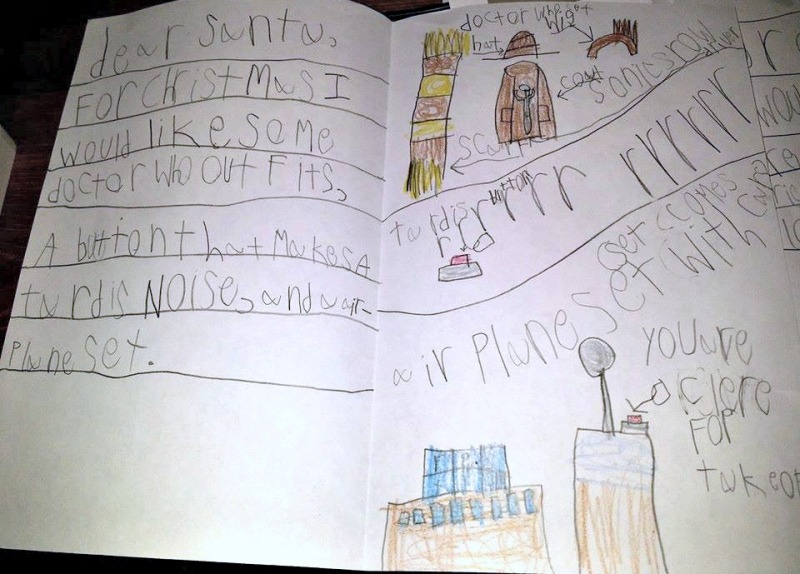 MM's letter to Santa