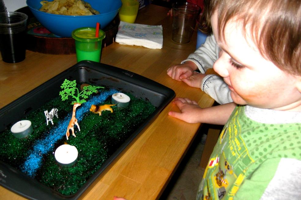 the Madagascar cake - MM's third birthday