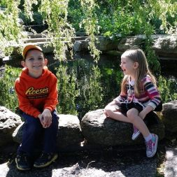 my favorite kiddos enjoying a break from the nature walk