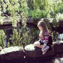 admiring the beautiful little pond