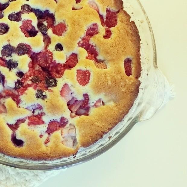 strawberry, blueberry, raspberry cake