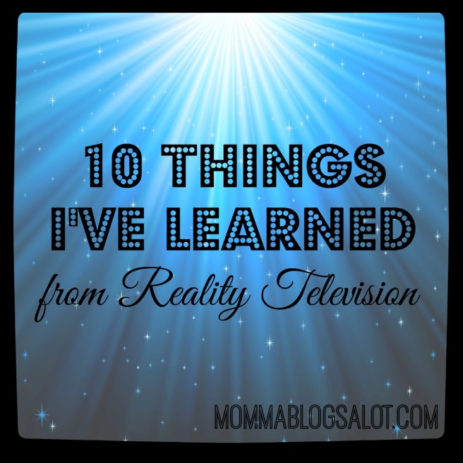 lessons from reality TV