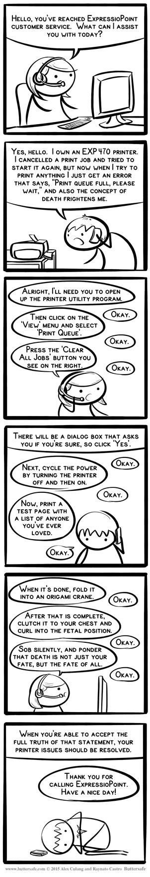 printer trouble