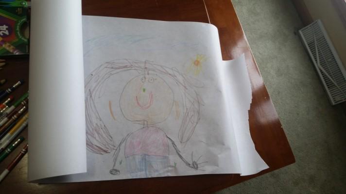 A portrait by BB, Age 5