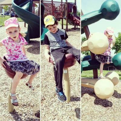 sunny summer days = playground!