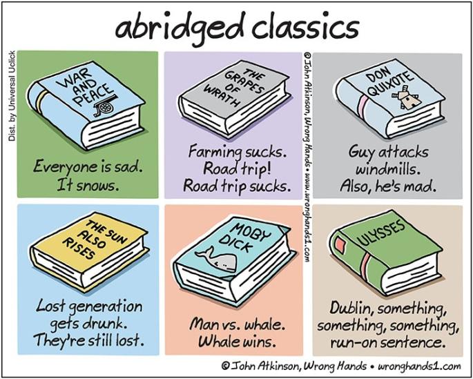 abridged classics - found via upworthy.com