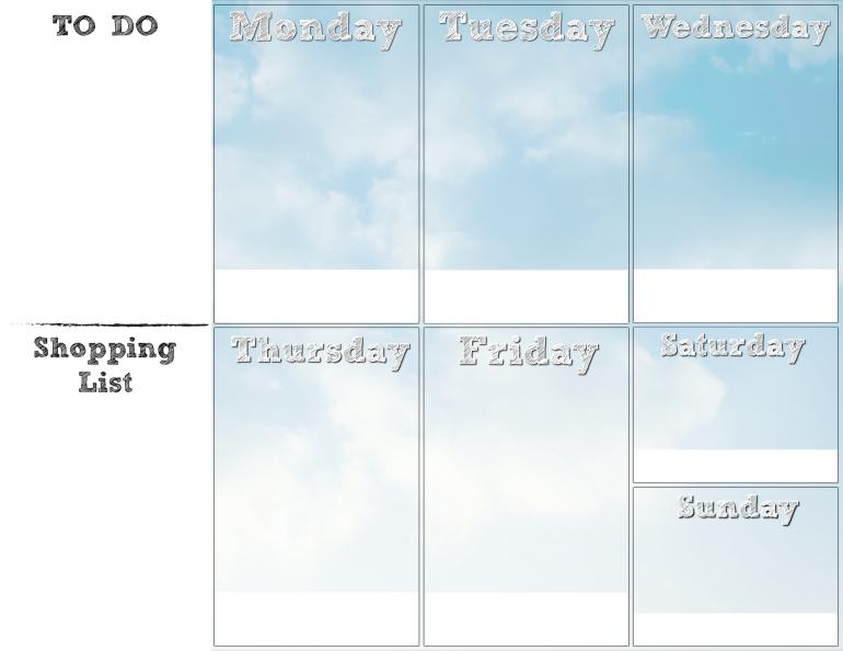 weekly planner grid