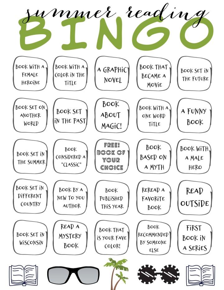 summer reading 2020 bingo