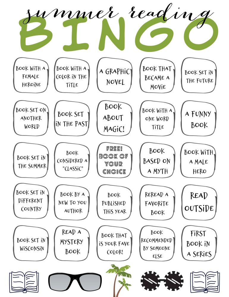 summer reading 2020 bingo